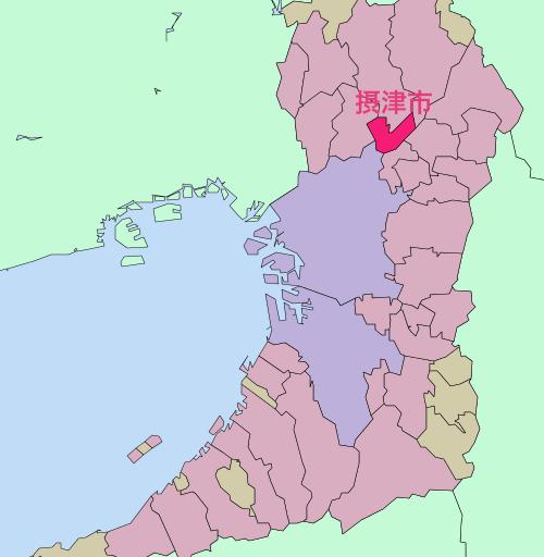 摂津市 基礎自治体位置図
