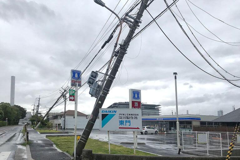 摂津 停電 台風
