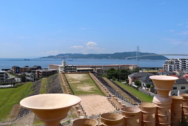 五色塚古墳からの眺望