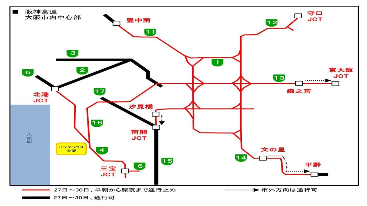 阪神高速規制