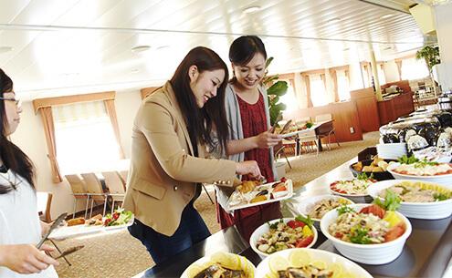 航路船上レストラン夕食ペア食事券
