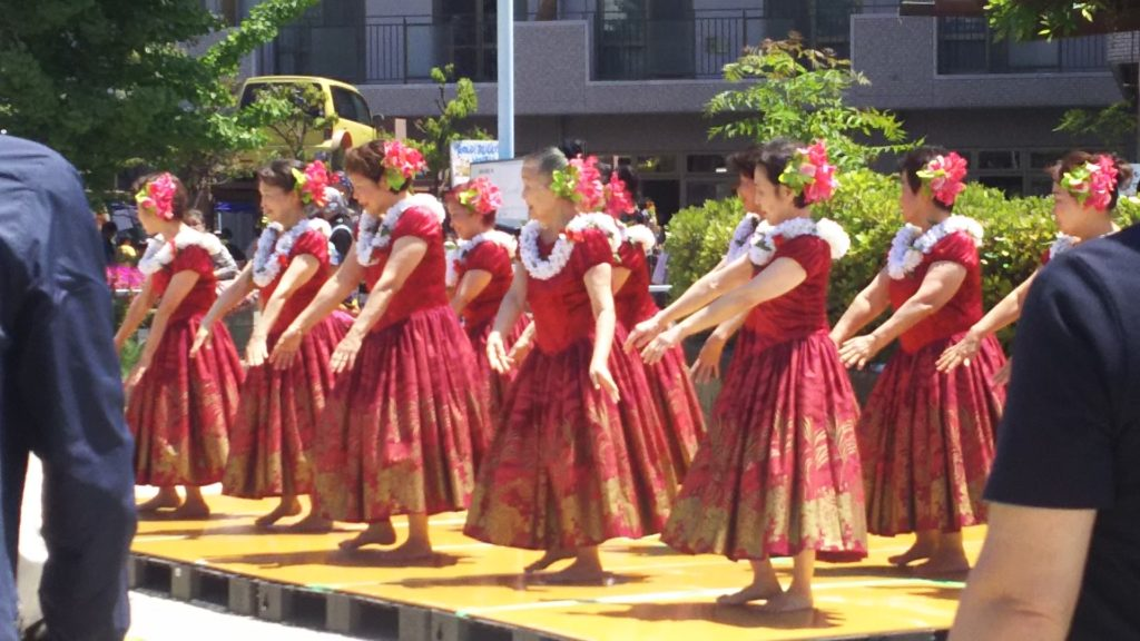 博愛の園 春まつり 2018 フラダンス 神津女性会
