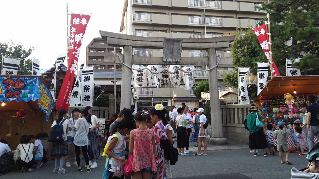 塚本神社 夏祭 鳥居付近