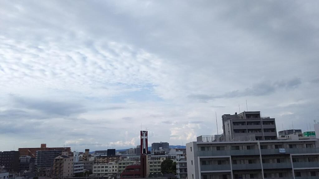 2018年9月2日 16時頃の 空の状態