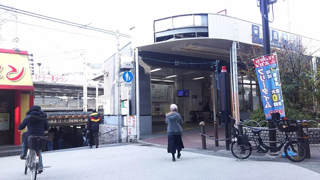 阪急 十三駅 東口 と 地下道