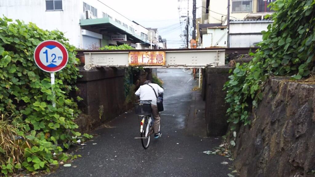 日本一 低い高架下 真ん中から