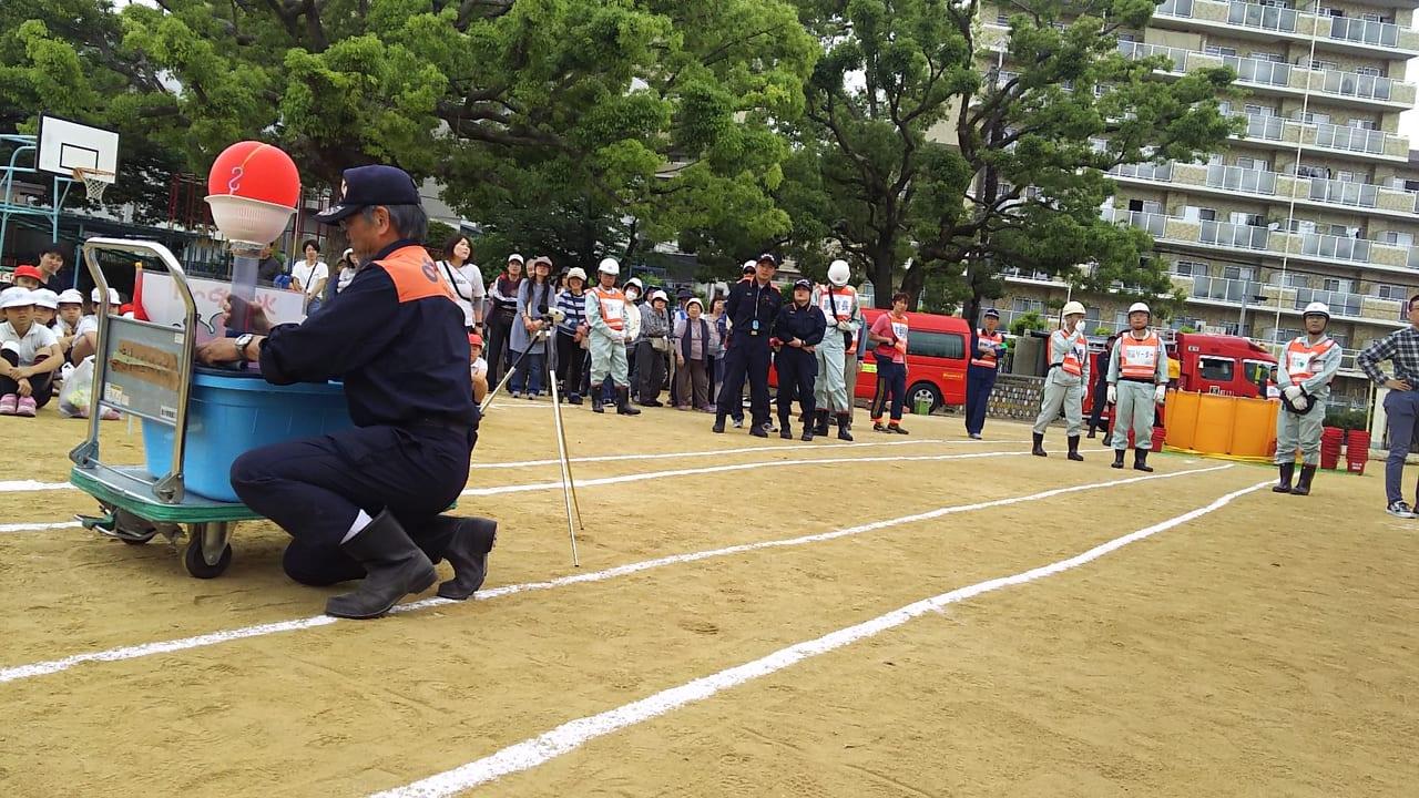 木川南小学校 2019年 防災訓練の様子