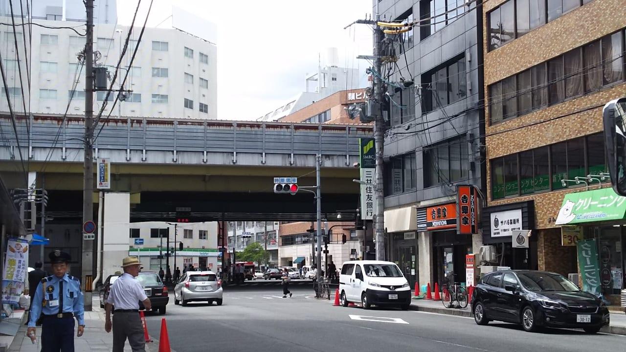 2019年8月6日 西中島南方駅前と 吉野家 西中島南方駅前店