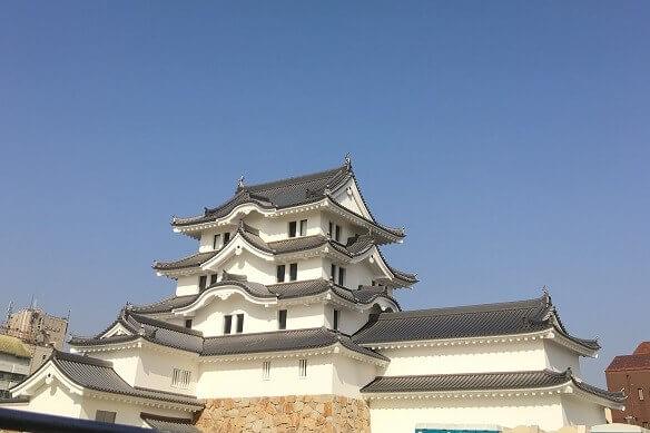 2018尼崎城を下見と青空