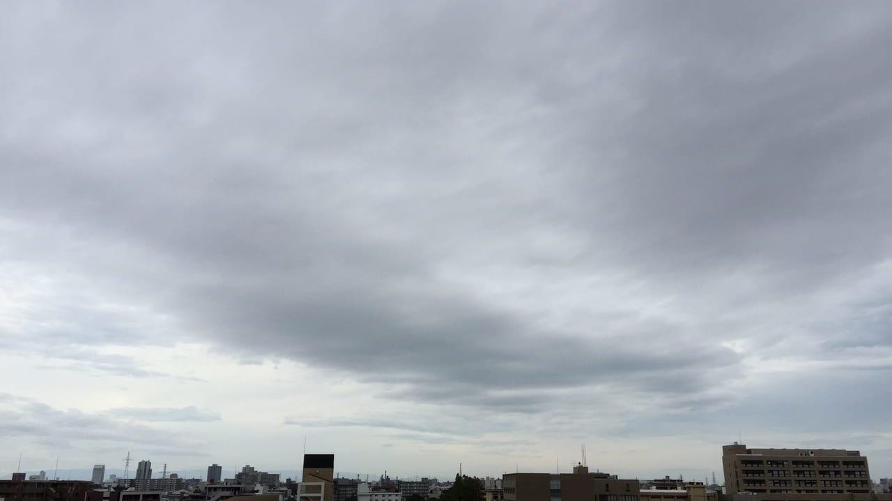 台風19号 10/11尼崎市内の雲
