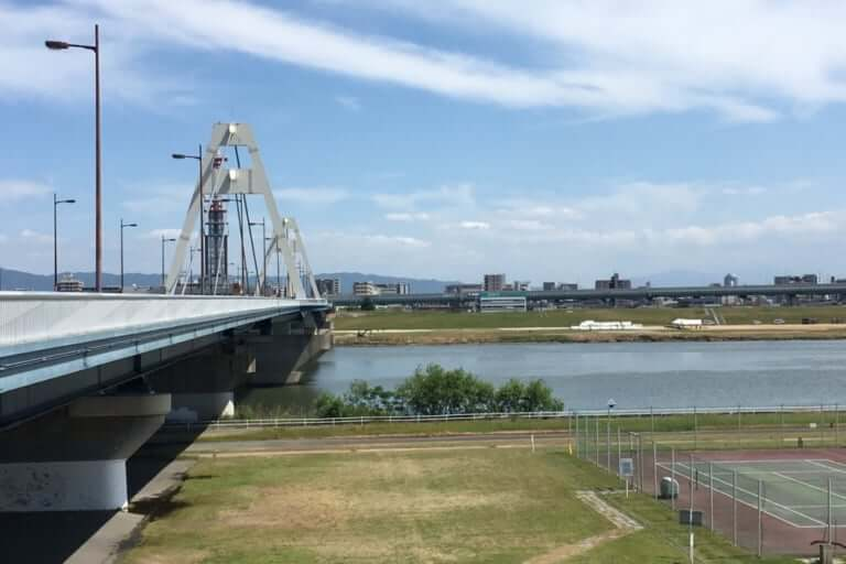淀川対岸 太子橋