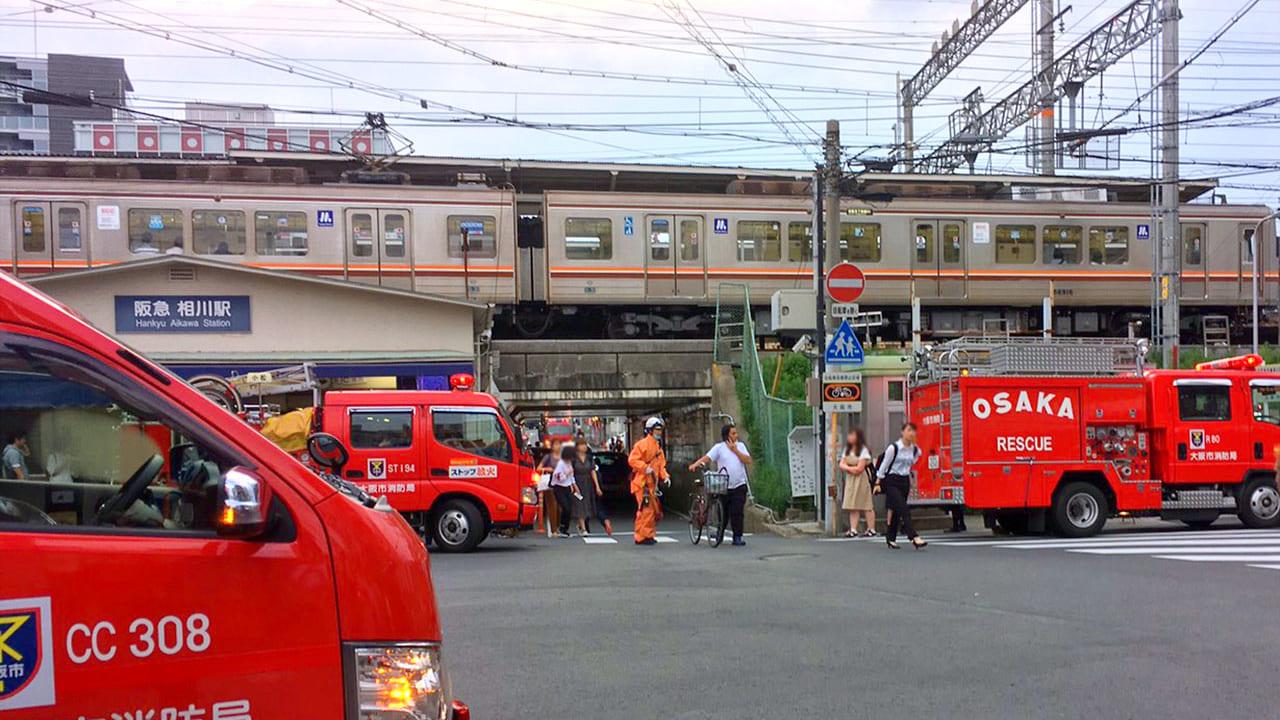 【東淀川区】相川駅で人身事故が発生のため、阪急電車京都線、千里線は運転見合わせ中です。再開まで時間がかかる模様です。