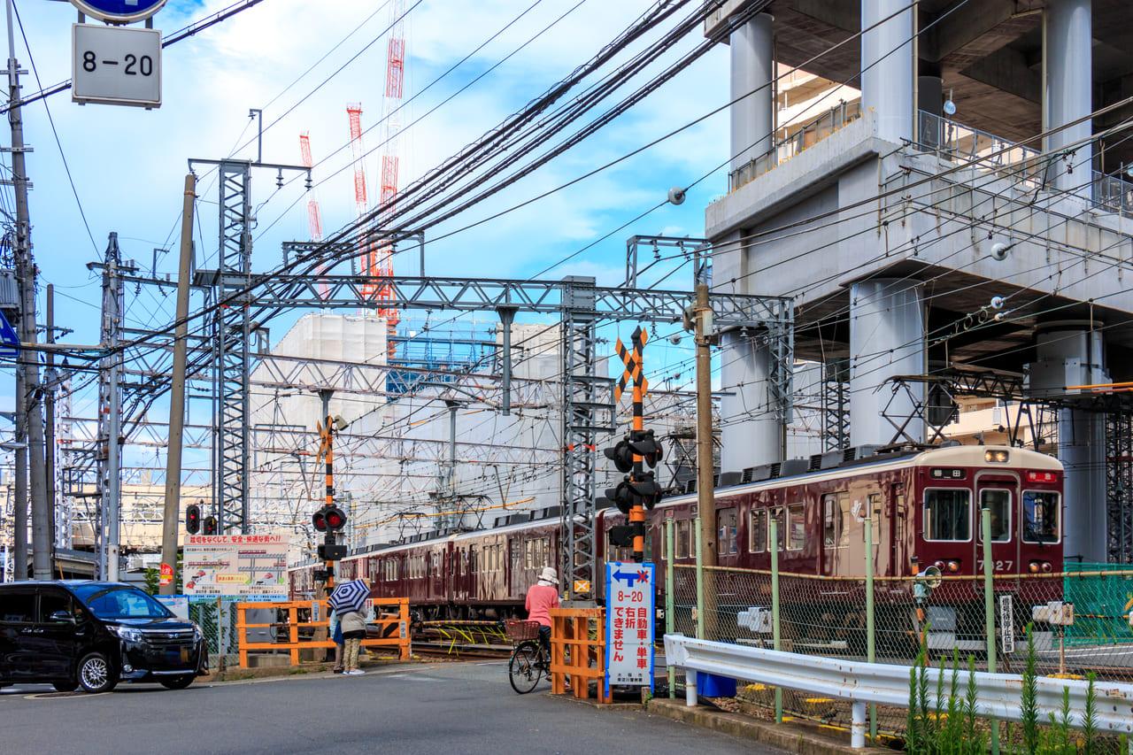 淡路駅周辺阪急高架工事