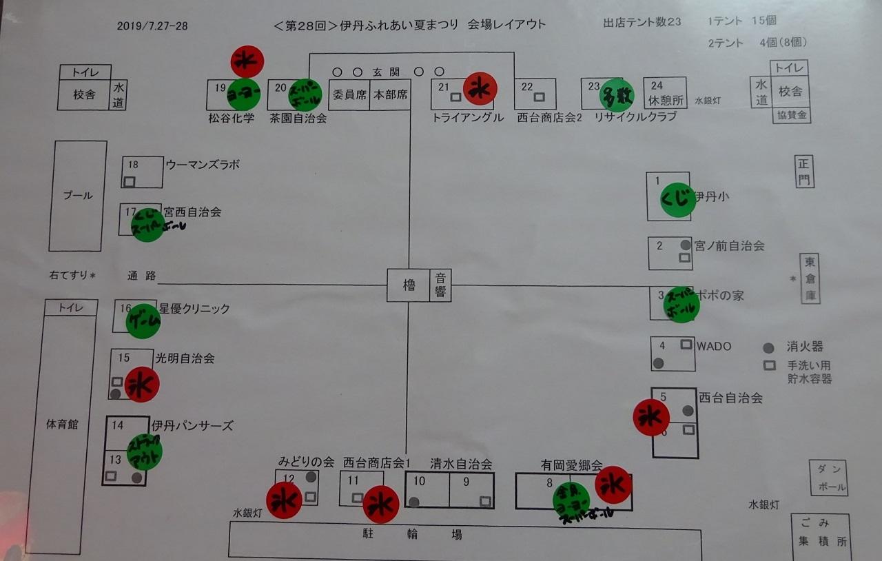 屋台のレイアウト図