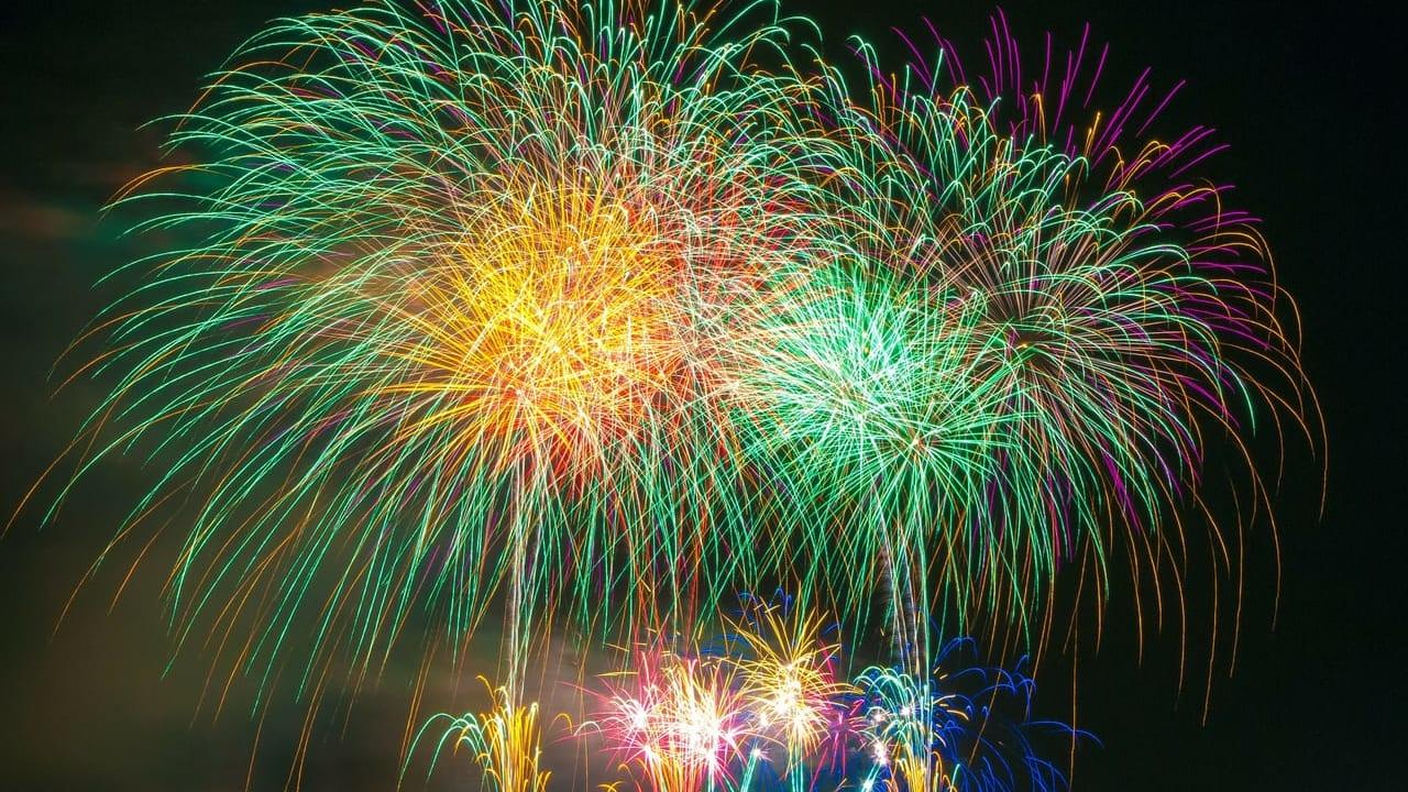 八幡神社の花火
