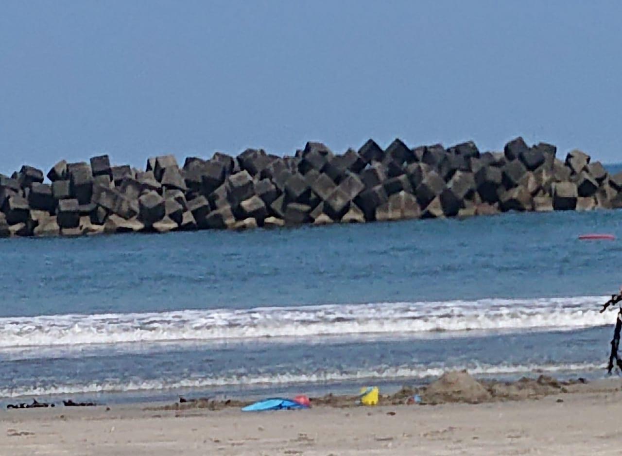 勿来海水浴場の海岸